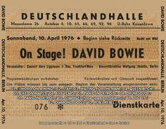Concert ticket of David Bowie