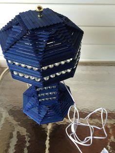 Nueva lámpara de palillo de paleta azul por Bartland en Etsy