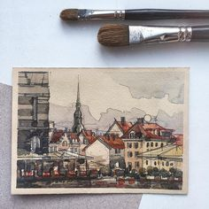 #oldtallinn by @olga.kplv in Instagram #aquarell #art #painting #watercolor #watercolour #sketch #paint #drawing #sketching #sketchbook #travelbook #archisketcher #sketchaday #sketchwalker #sketchcollector #traveldiary #topcreator #usk #urbansketch #urbansketchers #скетчбук #скетч #скетчинг #pleinair #aquarelle #watercolorsketch #usk #architecture #painting #illustration