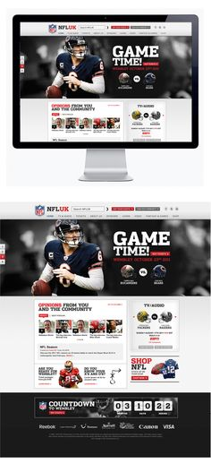 NFL by Moosesyrup , via Behance Great choice in photo #beardown
