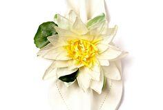 Water Lily Napkin Ring, White on OneKingsLane.com by Deborah Rhodes