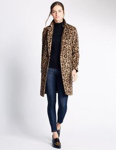 Collared Neck Coat by Marks and Spencer