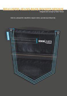 My Realistic Denim Jeans Back Pocket Designs on Behance Hipster Jeans, Patterned Jeans, Denim Jeans Men, Fashion Pants, Skinny, Behance, Jeans Pocket, Jeddah, Vintage Denim