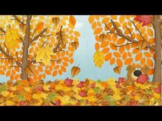 ▶ Autumn (Fall) Song for Children | Simple Song to Learn English | ESL - YouTube -not the clearest English which may make it difficult for some of the kids to understand, but not bad.