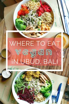 The ultimate food guide for Bali's vegan paradise! Our top 5 favorite vegan restaurants in Ubud, Bali serving everything from vegan raw food, vegan pizza, smoothie bowls, tempeh, vegan desserts, and other vegan eats!