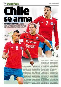 Diseño Editorial / La República / Fútbol / Diagramación / Chile / Perú / Bravo / Barcelona / Juventus / Diseño Gráfico / Deportes