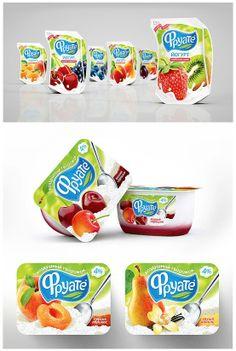 Yogurt Packaging, Ice Cream Packaging, Milk Packaging, Food Packaging Design, Beverage Packaging, Packaging Design Inspiration, Rice Pack, Yogurt Ice Cream, Cookies Et Biscuits