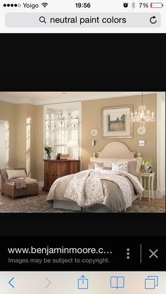 Cosy Country Style Bedroom In Warm Neutral Tones