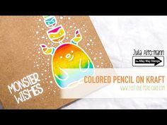 Colored Pencil on Kraft Card Stock - YouTube