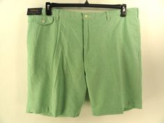 POLO RALPH LAUREN NEW MENS $89.50 GREEN CHINO CASUAL Big & Tall SHORTS 46 #PoloRalphLauren #CasualShorts
