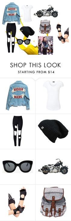 """""""He gives you a ride on his motorcycle"""" by kenziemckeee on Polyvore featuring Joseph, WithChic, CÉLINE and Leg Avenue"""