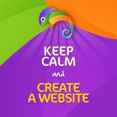 Keep calm and create a website