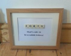 40 birthday handmade frames - Google Search