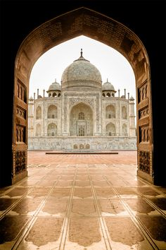 Morning light at the Taj Mahal - I was lucky to be almost the only one at the opening.  Thanks