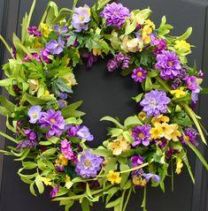 Gran puerta flores corona guirnalda hecha por EverBloomingOriginal