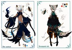 [CLOSED]Semi-chibi adopt 11 and 12 by Piku-chan21.deviantart.com on @deviantART