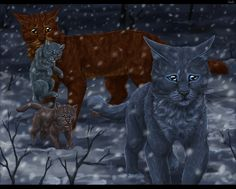 Where are you going? by Vialir.deviantart.com on @deviantART----> crying. I haven't read this part yet in Bluestar's Prophecy but the fanart is so sad :*(