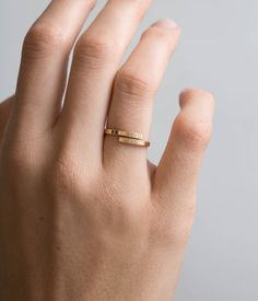 Personalized Stacking Ring: Gold, Silver or Rose Gold. Custom Hand Stamped with words & symbols, or leave it blank! Makes a special everyday piece, or a meaningful gift. …………………………………. D E T A I L S: the Hug Ring • the hand formed ring is 2mm wide • 100% 14k gold fill, sterling silver