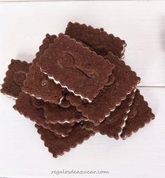 Regalos de azúcar: GALLETAS DE CHOCOLATE RELLENAS