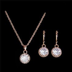 Item specifics Item Type: Jewelry Sets Fine or Fashion: Fashion Included Additional Item Description: Necklace+Earrings Style: Classic Gender: Women,Girls,Unisex Material: Cubic Zirconia Occasion: Wed