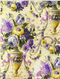 Purple Haze, Purple Yellow, Shades Of Purple, Lilac, Orange, Love Wallpaper, Pattern Wallpaper, Victorian Vases, Victorian Wallpaper