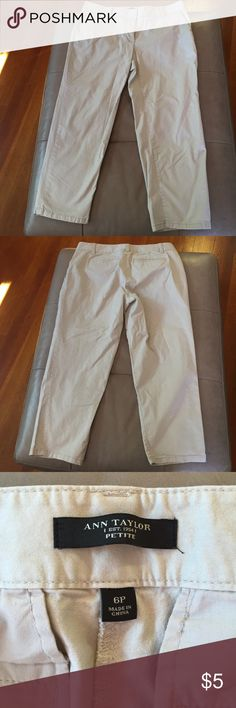 Ann Taylor light khaki ankle pants Great condition! *ADD ON ITEM: Must be purchased in a bundle for $3, or you can buy them separately for $4** Ann Taylor Pants Ankle & Cropped