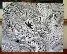 My extreme doodle.  16 x 20.  So much fun to do.