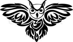 """Vetor de 'símbolo coruja preta isolada no branco como um conceito sabedoria """""""
