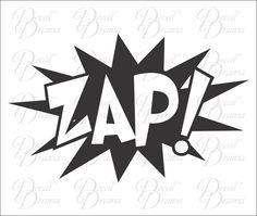 ZAP! Vinyl Car Decal, Comics, Superman, Batman, Wonder Woman, Graphic Novel #DecalDrama