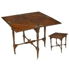 Handkerchief Game Table  French Walnut