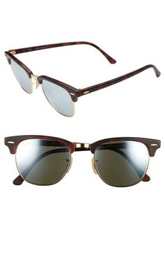 mirrored clubmaster sunglasses