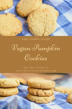 These vegan pumpkin cookies are the perfect vegan dessert! They're packed with flavor from pumpkin and brown sugar, easy to whip up in 30 minutes, and they're completely vegan. #vegan #cookies #veganbaking #eggfree #dairyfree | vegan cookies | vegan baking | vegan dessert Best Vegan Cookies, Vegan Chocolate Cookies, Vegan Pumpkin Cookies, Pumpkin Cookie Recipe, Vegan Peanut Butter Cookies, Healthy Vegan Desserts, Gourmet Cookies, Pumpkin Chocolate Chips, Vegan Dessert Recipes