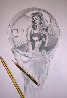 Horror pin up design by Darren Burton Soul Tattoo, Vintage Soul, My Portfolio, Pin Up, Tattoo Designs, Horror, Art, Art Background, Kunst