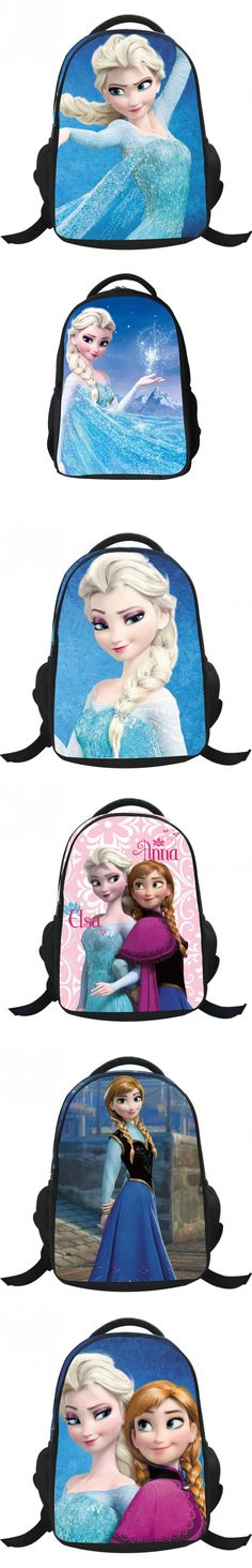 Children School Backpacks Cartoon Student Bag Girl Kids Backpack Princess Elsa Anna 16' Schoolbag for Girls $18.6