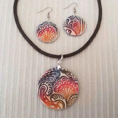 Polymer clay jewelry by De repente ella.