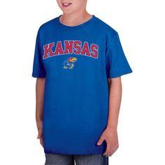 Ncaa Kansas Jayhawks Boys Classic Cotton T-Shirt, Size: Medium, Blue