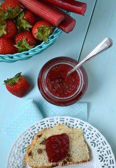 Strawberry Rhubarb Jam {A-Pretty-Life}