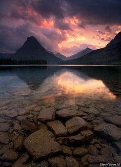 Red Sky Over Mt. Sinopah Glacier National Park - Daniel Ewert's Photos