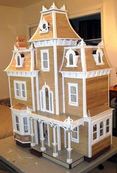 Victorian Doll House with Gingerbread Rooftops / Time Crafted