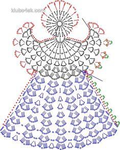 Over 20 Free Crochet Angel Patterns Crochet Christmas Decorations, Crochet Christmas Ornaments, Christmas Crochet Patterns, Holiday Crochet, Christmas Angels, Christmas Bells, Crochet Snowflake Pattern, Crochet Snowflakes, Crochet Motif