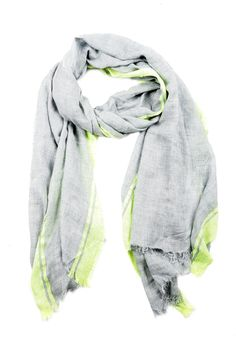 grey scarf, highlighter edges by Threads Couture