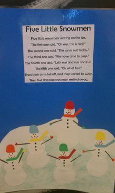 Snowman poem.