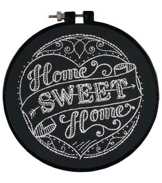 """Learn-A-Craft Home Sweet Home Stamped Embroidery Kit-6"""" Round Stitched In Thread"""