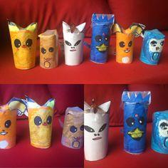 Our own toilett paper roll Pokemons