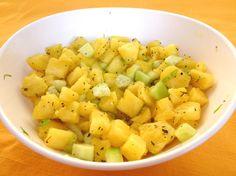 Insalata di ananas e cetriolo