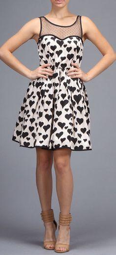 #Heart #print #dress