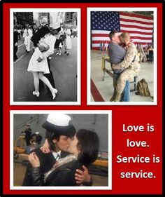 Love is love. Service is service.