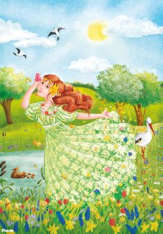 wiosna Fairy Princesses, Butterfly Art, Cartoon Pics, Preschool Crafts, Four Seasons, Fairy Tales, Art Drawings, Images, Spring