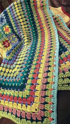 Granny Square Crochet Pattern, Afghan Crochet Patterns, Crochet Squares, Crochet Stitches, Knit Crochet, Knitting Patterns, Crochet Afghans, Granny Squares, Crotchet