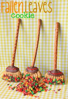 Last year I made some witch's broom cookies  and thought it would be fun to make them again this yearwith a more general fall appeal.   ...